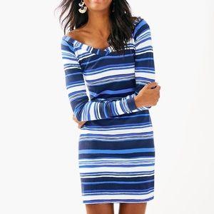 NWT Lilly Pulitzer suzanna dress navy stripe